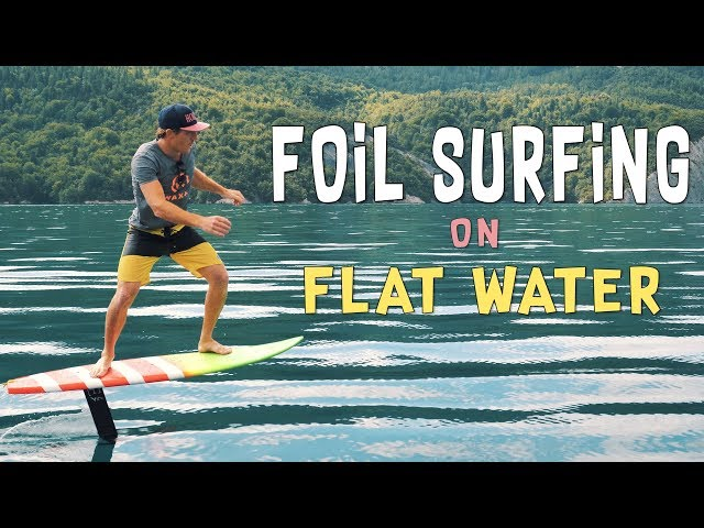 Foil Surfing on Flat Water   Hydrofoil pumping by HORUE®