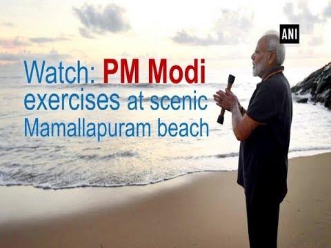 Watch: PM Modi exercises at scenic Mamallapuram beach