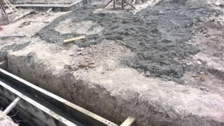 Basement walls poured