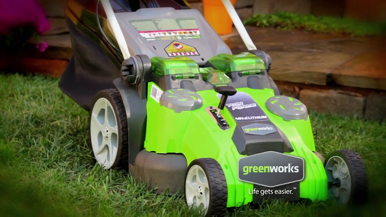 40V Cordless 20 Inch Twin Force Lawn Mower