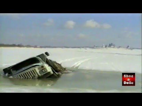 Caught On Tape: Truck Falls Through The Ice And Sinks