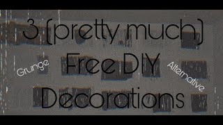 3 DIY Grunge/Emo/Alternative Room Decorations