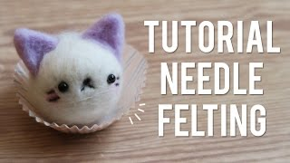 ¡Needle Felting Con CRAFTYFELT: Mini Tutorial Gato Kawaii!