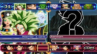 Warrior´s Girls VS Five Random | Dragon Ball Z Budokai Tenkaichi 3