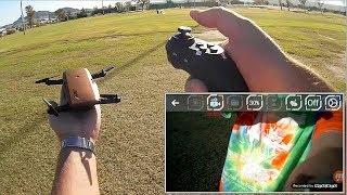 JJRC H47 Elfie 720p HD FPV G Sensor Folding Camera Drone Flight Test Review
