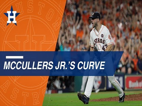McCullers throws 24 straight curveballs to close out the AL Pennant