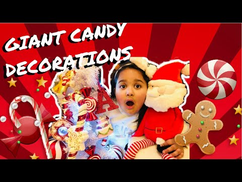 Decorating My Giant Candy Christmas Tree