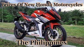 Prices Of New Honda Motorcycles & Electric Bikes In The Philippines
