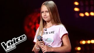 "Hanna Lasota - ""Perfect Strangers"" - Przesłuchania w ciemno - The Voice Kids 2 Poland"