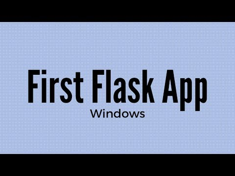 How to Install and Use Flask on Windows for Beginners (2019)