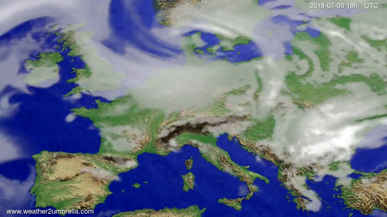 Cloud forecast Europe 2018-07-06