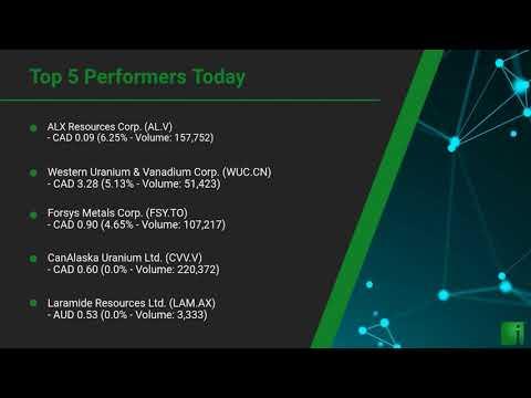 InvestorChannel's Uranium Watchlist Update for Friday, Jun ... Thumbnail