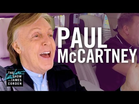 Karaoke spolujízda s Paulem McCartneym - The Late Late Show with James Corden