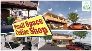 Amazing Small Space Cafe Coffee Shop Design Ideas | 3D Animation Ilustration