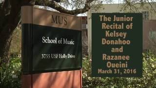 The Junior Recital of Kelsey Donahoo and Razanne Oueini
