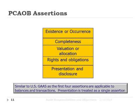 PCAOB Assertions