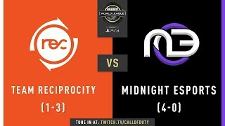 Team Reciprocity vs Midnight Esports | CWL Pro League 2019 | Division A | Week 2 | Day 2