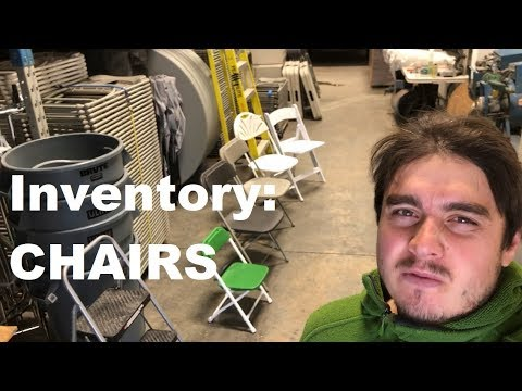Growing Event Rental Business - Inventory: Chairs