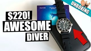 Affordable Pantor Nautilus Diving Watch Unboxing