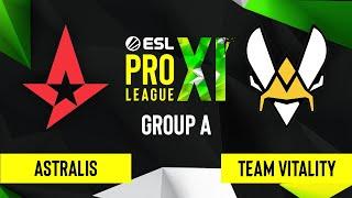 CS:GO - Astralis vs. Team Vitality [Dust2] Map 1 - ESL Pro League Season 11 - Group A