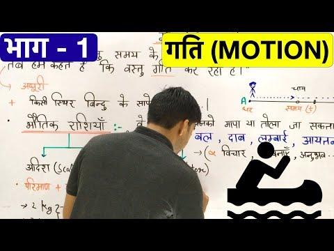 गति (Motion in Hindi)Part-1