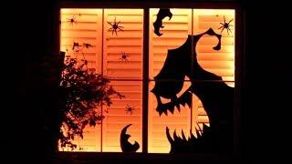 DIY Dollar Store Halloween Decor Window Display | Decorate With Me!