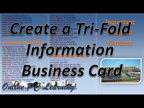 How To Make Trifold Business Cards Office Tutorials - Tri fold business card template