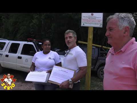 Claudio da Fazenda Meandros faz doação de placas para o Parque Jurupará