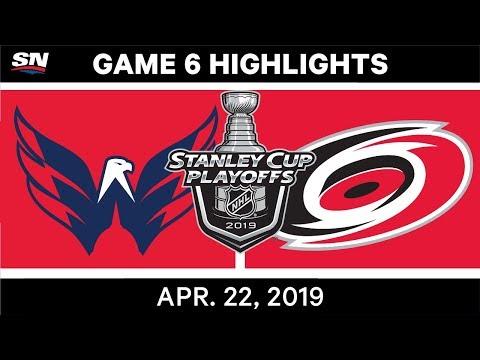 NHL Highlights   Capitals vs. Hurricanes, Game 6 - April 22, 2019