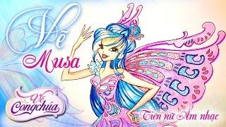 Vẽ Musa Tiên Nữ âm Nhạc Trong Phim Bộ Phim Hoạt Hình Winx Club  Công Chúa Phép Thuật