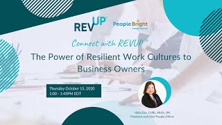 Connect with REVUP™: The Power of Resilient Work Cultures to Business Owners