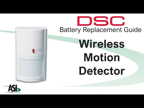 DSC Wireless Motion Detector battery replacement
