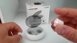 Promate TrueBlue White Wireless Bluetooth Stereo Hi-Fi In Ear Kopfhörer