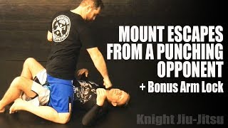 Mount Escapes From A Punching Opponent | Jiu Jitsu Escapes