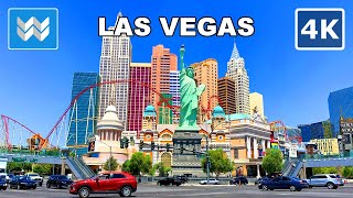 【4K】Driving Las Vegas Strip USA 2020 Travel Guide