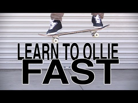 How to Ollie on Skateboard Fast Tutorial