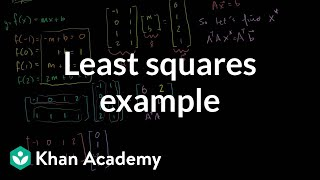 Linear Algebra: Another Least Squares Example