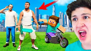 Jugando MINECRAFT En GTA 5! Grand Theft Auto V - GTA V Mods