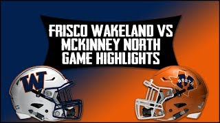 Frisco Wakeland vs McKinney North - 2019 Week 3 Football Highlights