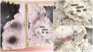 Smash Book Terapia: Art Journal *Cómo hacer un diario de Scrap* Smash book tutorial