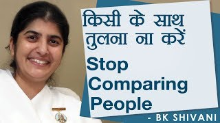 Stop Comparing People
