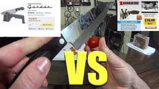 Testing $29 Bavarian EDGE vs $3 Harbor Freight Tools knife sharpener