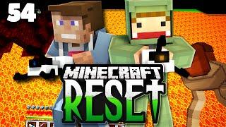 Minecraft RESET II #54 | SELBSTMORDSPRUNG IN DIE LAVA ? | Unge, GLP & Dner