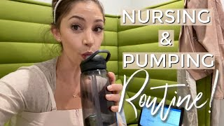 WORKING MOM PUMPING/BREASTFEEDING ROUTINE | 6 MONTH OLD DITL