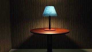 Maya 2016 tutorial : How to setup table lamp lighting