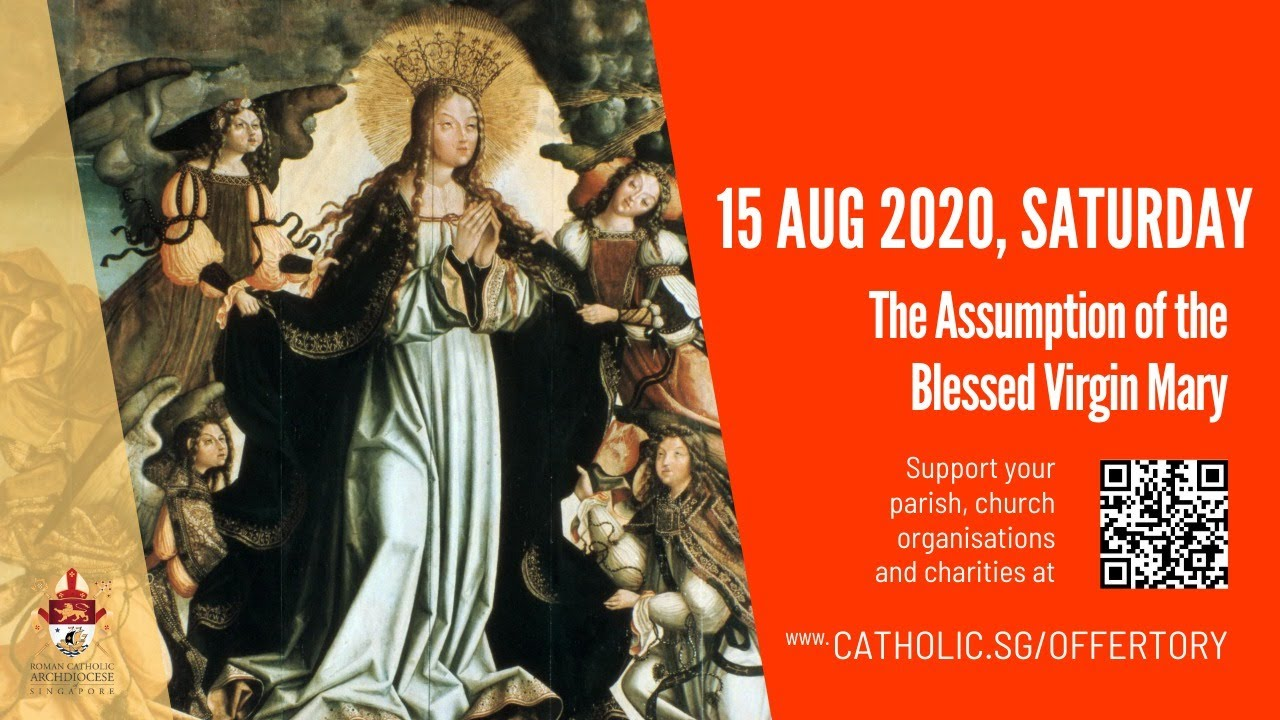 Catholic Live Mass 15th August 2020 Saturday, The Assumption of the Blessed Virgin Mary
