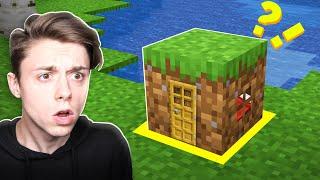 Building a Minecraft House INSIDE a DIRT BLOCK!?