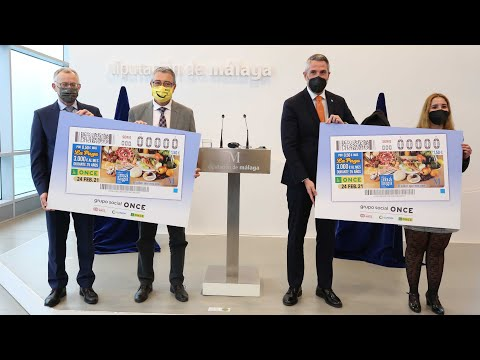 Presentación del cupón de la ONCE dedicado a