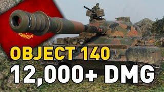 World Of Tanks    Object 140   12,000+ DMG...