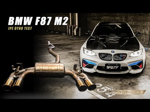 Dyno Run- The iPE Titanium exhaust for F87 M2